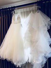 Load image into Gallery viewer, Watters 'Custom' size 12 new wedding dress front view on hanger