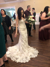 Load image into Gallery viewer, Kenneth Winston '1791' size 8 used wedding dress front view on bride