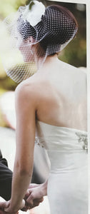 Priscilla of Boston 'Platinum Collection' size 4 used wedding dress back view on bride