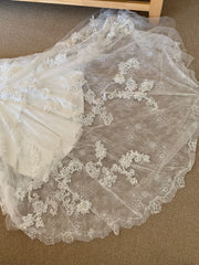 Casablanca 'Imperial' size 12 new wedding dress view of hemline