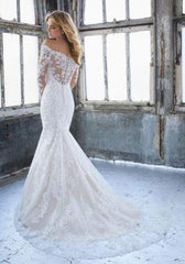 Mori Lee 'Karlee  '8207' size 10 new wedding dress back view on model