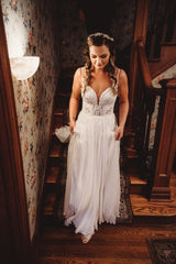 Martina Liana '1031' size 10 used wedding dress front view on bride