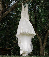Load image into Gallery viewer, Mori Lee 'Karisma' size 8 used wedding dress front view on hanger