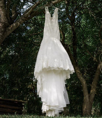 Mori Lee 'Karisma' size 8 used wedding dress front view on hanger