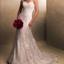 Load image into Gallery viewer, Maggie Sottero 'Emma' size 10 used wedding dress front view on model