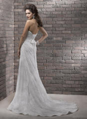 Maggie Sottero 'Myra R1157' size 0 used wedding dress back view on model