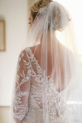 Maggie Sottero 'Verina' size 6 used wedding dress back view close up