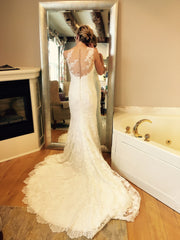 Pronovias 'Prunelle' size 2 used wedding dress back view on bride