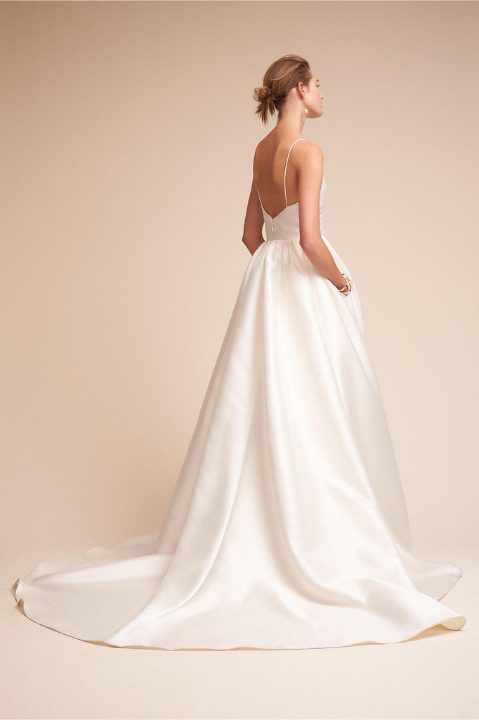 BHLDN 'Opaline' size 4 new wedding dress back view on model
