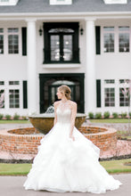 Load image into Gallery viewer, Mori Lee 'Kali' size 6 used wedding dress front view on bride