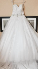 Alfred Angelo '2492' size 10 new wedding dress front view on hanger