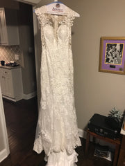 Eddy K '1131' size 4 used wedding dress front view on hanger