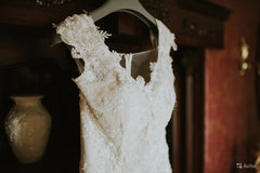 Saiid Kobeisy WE.3074 'Off Shoulder Mermaid' size 8 used wedding dress front view close up