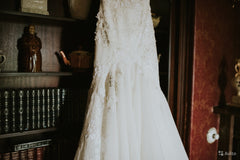 Saiid Kobeisy WE.3074 'Off Shoulder Mermaid' size 8 used wedding dress view of body of dress