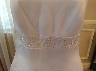 David's Bridal 'Michelangelo Signature' size 10 used wedding dress view of waistline