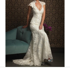 Allure Bridals '8764' size 10 used wedding dress front view on model