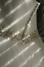 Load image into Gallery viewer, Rosa Clara 'Two' size 12 used wedding dress  back view on hanger