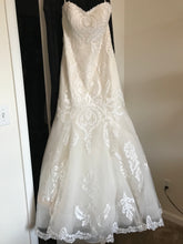 Load image into Gallery viewer, Sottero and Midgley 'Lovai' size 8 used wedding dress front view on hanger