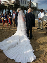 Load image into Gallery viewer, Custom 'Jim Hjelm' Style Organza and Lace Mermaid - Custom - Nearly Newlywed Bridal Boutique - 3
