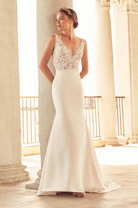 Paloma Blanca '4787' size 6 new wedding dress front view on model