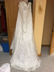Maggie Sottero 'Emma' size 22 new wedding dress back view on hanger