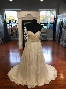 Maggie Sottero 'Kimaya' size 18 new wedding dress front view on mannequin