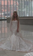Load image into Gallery viewer, Inbal Dror '15-16' size 2 used wedding dress front view on bride