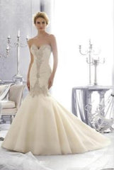 Mori Lee '2682' size 8 new wedding dress front view on model