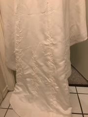 Custom 'Imperial' size 8 used wedding dress view of train