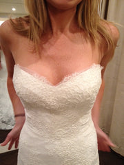 Monique Lhuillier Trumpet Lace Emma Wedding Dress - Monique Lhuillier - Nearly Newlywed Bridal Boutique - 8