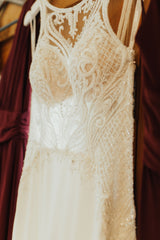 Martina Liana '875' size 8 used wedding dress front view on hanger