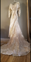 Mori Lee 'Luzette' size 22 used wedding dress front view on hanger