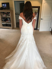Maggie Sottero 'Afton' size 14 new wedding dress back view on bride