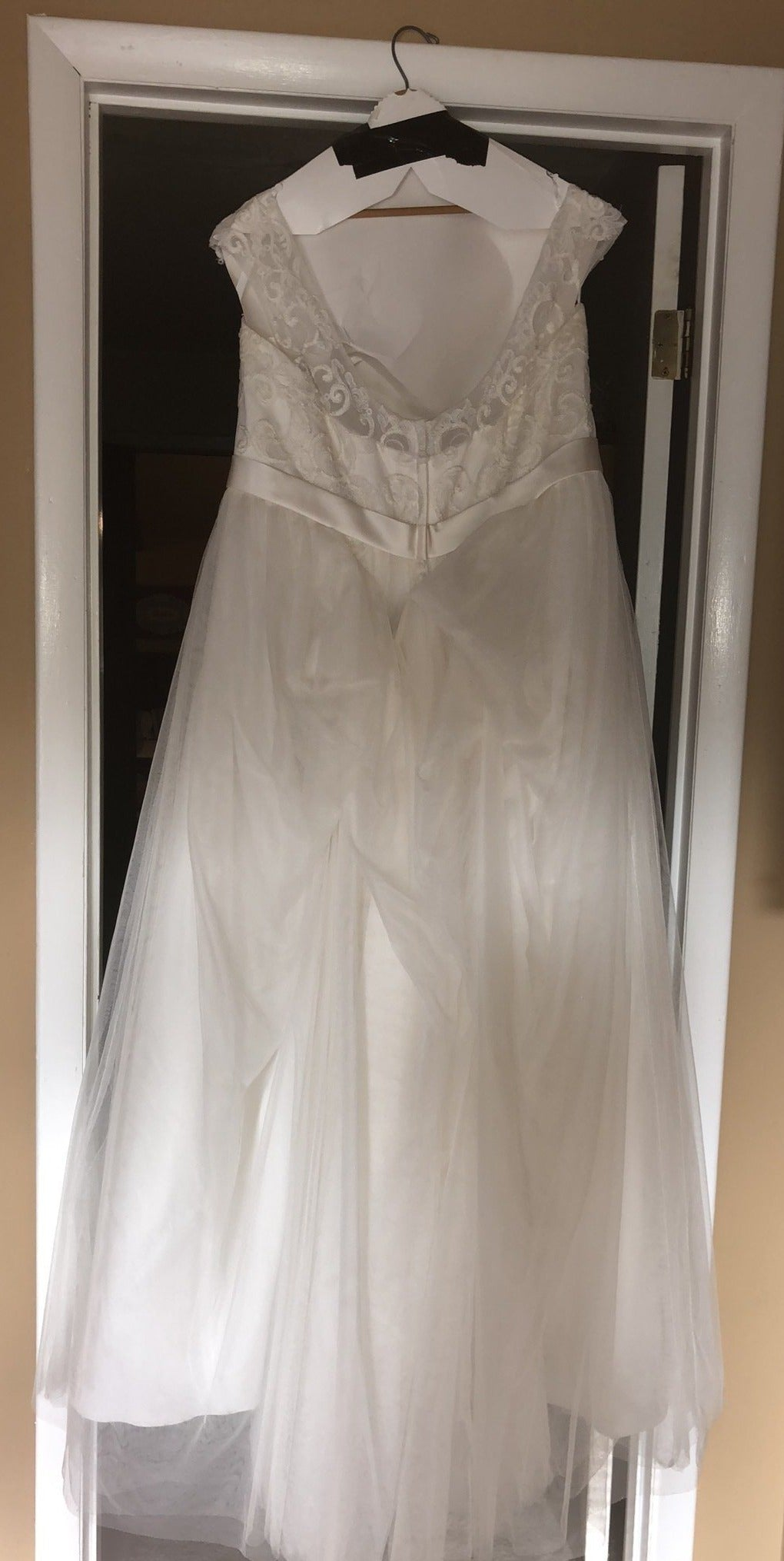 David S Bridal Tulle Plus Size With Lace Cap Sleeves 9wg3741 Nearly Newlywed