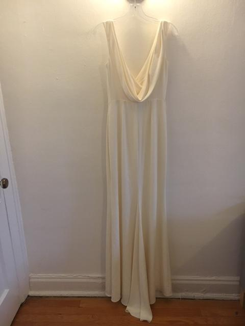 Badgley Mischka 'Livia' size 2 sample wedding dress back view on hanger