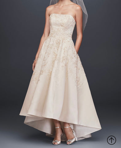 Oleg Cassini 'Embroidered Satin'