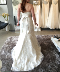Aria 'Jacqueline' size 6 used wedding dress back view on bride