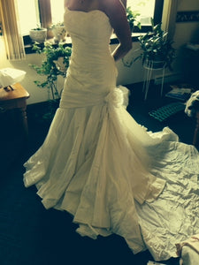 Marisa Fit And Flare with Organza Flower - Marisa - Nearly Newlywed Bridal Boutique - 1