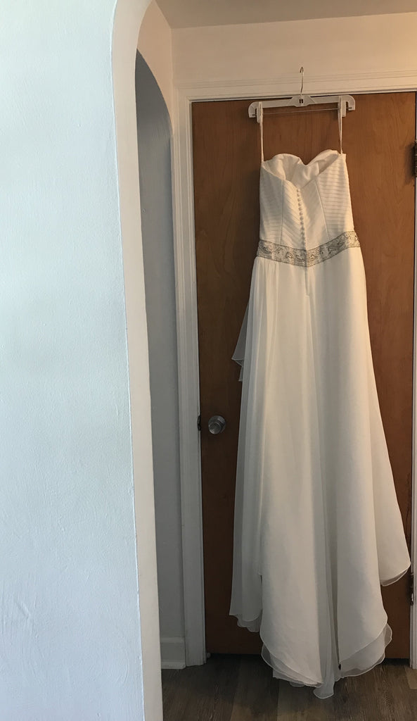 David's Bridal 'Sweetheart Strapless Chiffon'