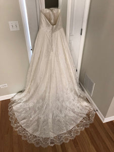 Kelly Faetanini 'Aster' size 10 new wedding dress back view on hanger