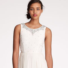 J Crew 'Crystalline' size 0 used wedding dress front view close up
