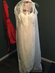 Mon Cherie 'Enchanting' size 8 new wedding dress front view on hanger