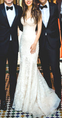 Galia Lahav 'Lydia' size 2 used wedding dress front view on bride