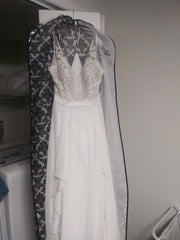 Jasmine 'F201007' size 6 sample wedding dress front view on hanger