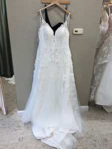 Essence of Australia 'D2453' size 20 new wedding dress front view on hanger