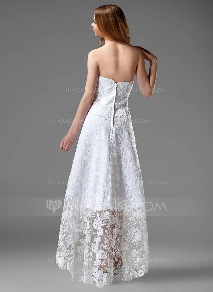 JJS House '226' size 14 new wedding dress back view on model