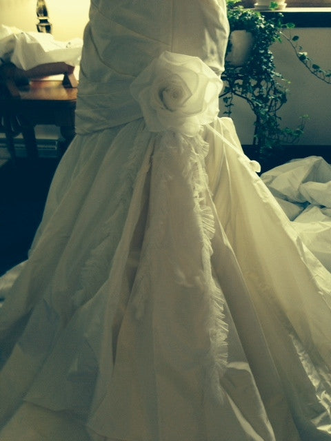 Marisa Fit And Flare with Organza Flower - Marisa - Nearly Newlywed Bridal Boutique - 3