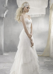 Alvina Valenta AV9260 Chantilly Lace Wedding Dress - Alvina Valenta - Nearly Newlywed Bridal Boutique - 1