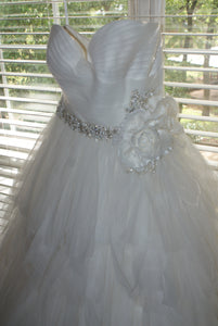 Rosa Clara 'Two' size 12 used wedding dress front view on hanger