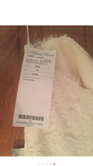 Paloma Blanca '4450' size 4 new wedding dress tag on dress